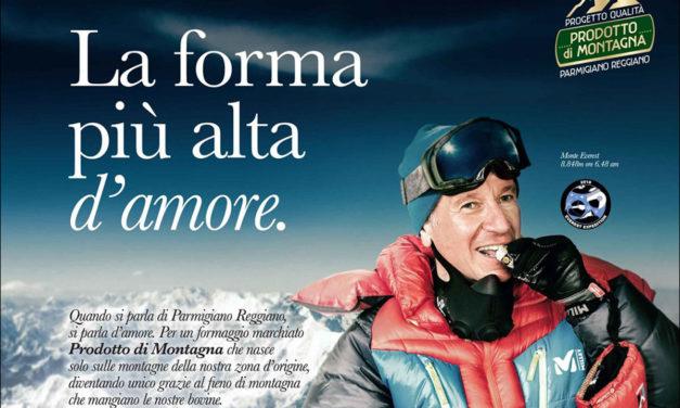 Parmigiano-Reggiano sull'Everest, anziché sul Monte Caio